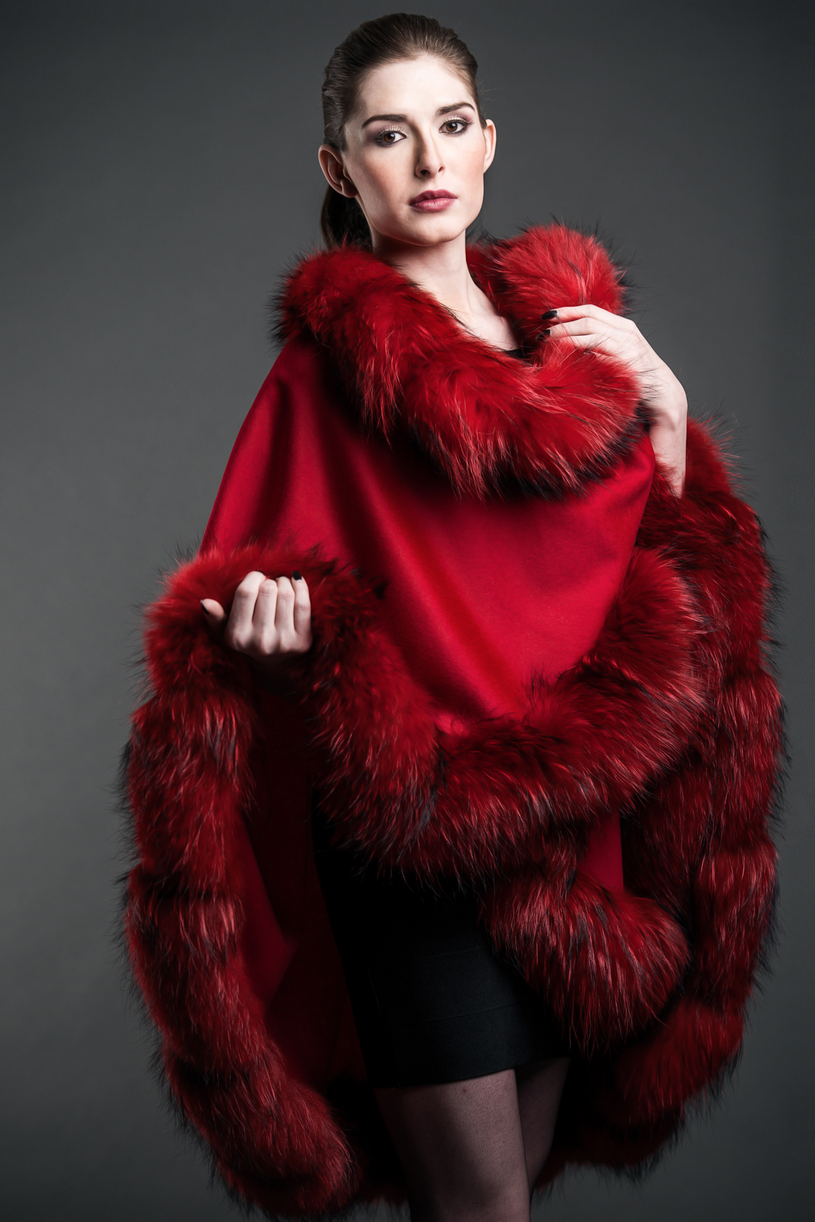 Red Finland Fur Cape