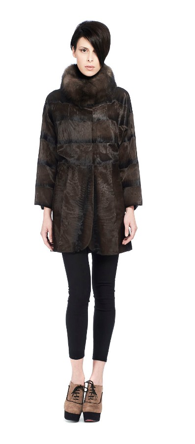 BROADTAIL JACKET BROWN STRIPE WITH SABLE
