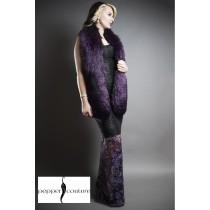 Violet Fur Stole