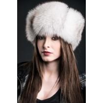 Blue Fox Fur Trooper Hat